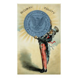 19C Uncle Sam Likes Silver Posters