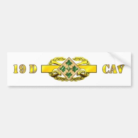 19D 4th Infantry Division Bumper Sticker