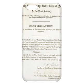19th Amendment to the United States Constitution iPhone 5C Case