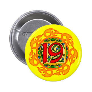 19th Birthday Party Button