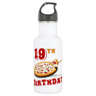 19th Birthday Pizza Party 532 Ml Water Bottle