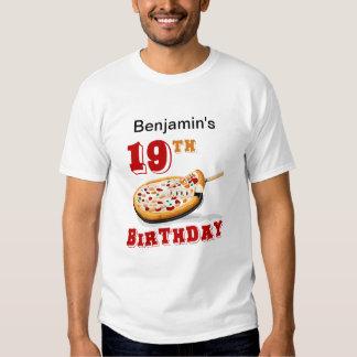 19th Birthday Pizza Party Tee Shirt