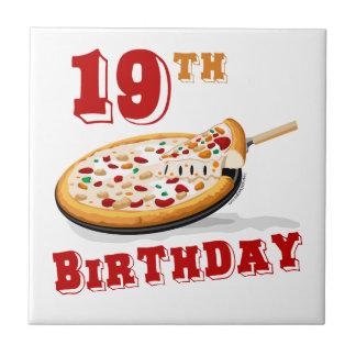 19th Birthday Pizza Party Ceramic Tiles