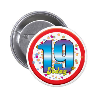 19th Birthday Today v2 6 Cm Round Badge