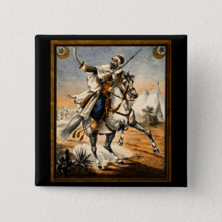 19th C. Arabian Warrior 15 Cm Square Badge