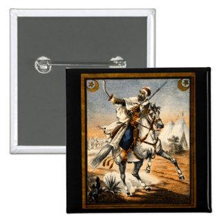 19th C. Arabian Warrior 15 Cm Square Badge