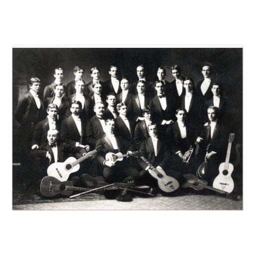 19th C Mens Musical Group Custom Invite