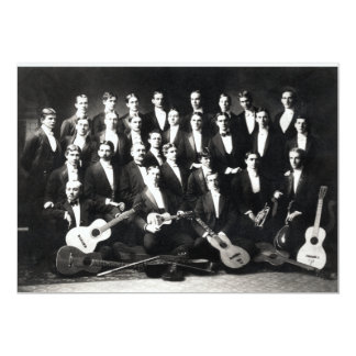 19th C Mens Musical Group Custom Invite