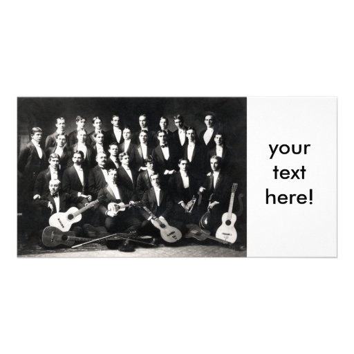 19th C Mens Musical Group, your text here! Photo Card Template