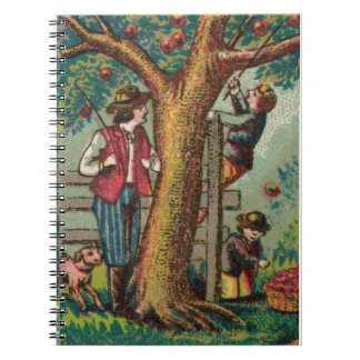 19th Century Apple Picking Notebook
