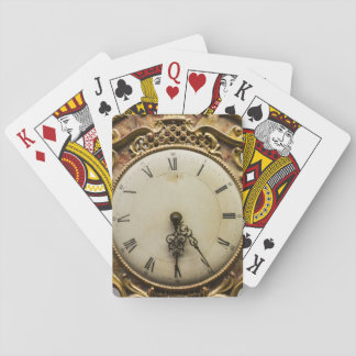 19th century clock face, Germany Playing Cards