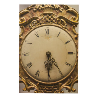 19th century clock face, Germany Wood Canvases