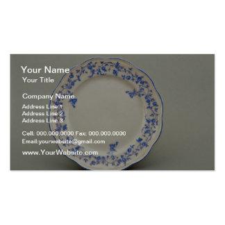 19th century dessert plate, Berlin, Germany  flowe Business Card Templates