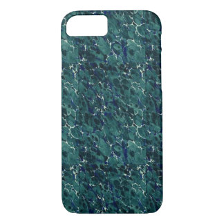 19th Century Endpaper Design Perfect Blue Green iPhone 7 Case