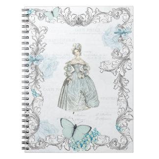 19th century fashion notebook vintage collage