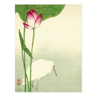 19th Century Japanese Bird Postcard