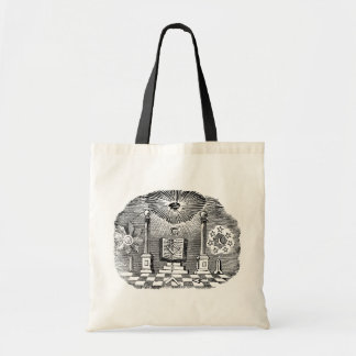 19th Century Masonic Blockcut engraving Tote Bag