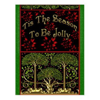 19th Century Naturalist Inspired Christmas Postcard