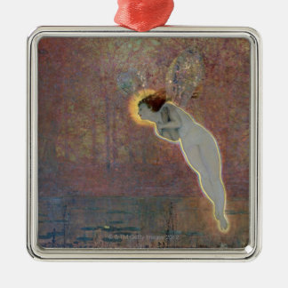 19th century painting of angel christmas ornament
