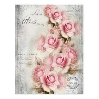 19th century Roses Postcard