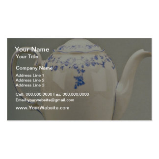 19th century teapot, Berlin, Germany  flowers Business Card Templates