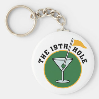 19th Hole Basic Round Button Key Ring