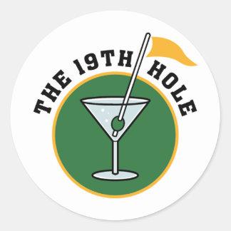 19th Hole Round Sticker