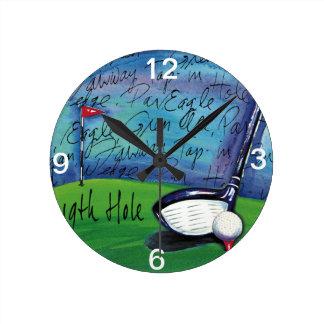 19th Hole wall clock