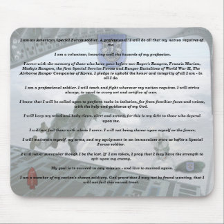 19th special forces creed camp williams veterans   mouse mat