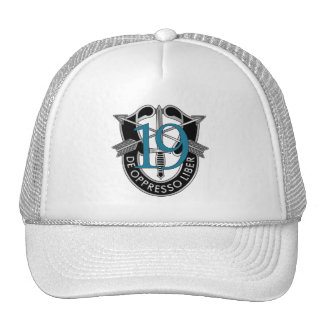 19th Special Forces Group Crest Trucker Hats
