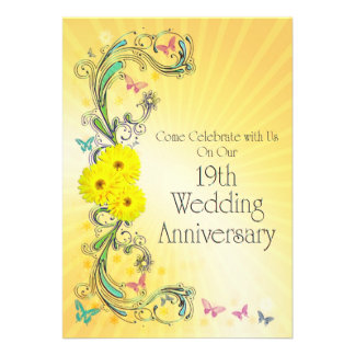 wedding invitations with rsvp 19th anniversary cards photo card templates invitations 9778