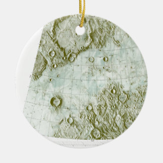 1:000 000 scale lunar chart christmas ornament