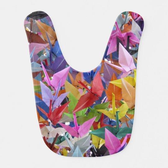 1,000 Origami Paper Cranes Baby Bib