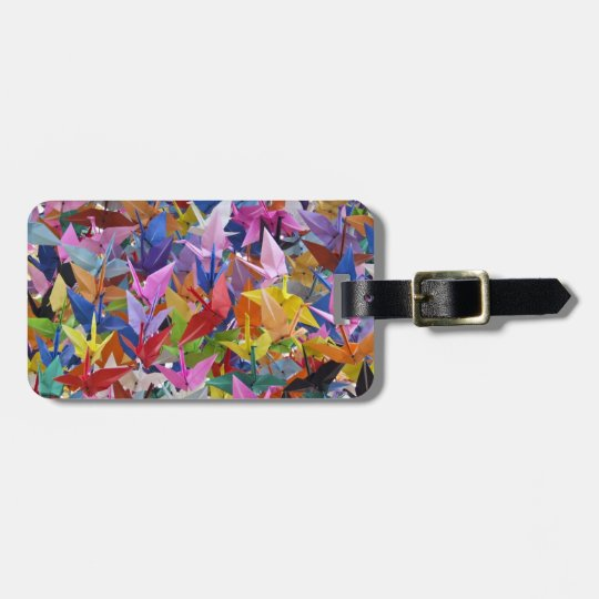 1,000 Origami Paper Cranes Photo Luggage Tag