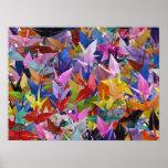1,000 Origami Paper Cranes Poster