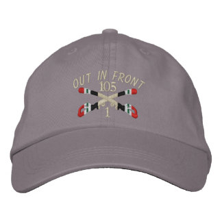 1-105th Cavalry Iraq Crossed Sabers Hat Embroidered Hat
