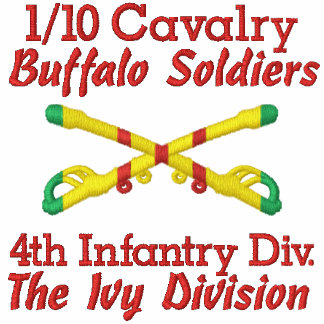 1/10th Cavalry 4th Inf. Div. Crossed Sabers Shirt Embroidered Shirts