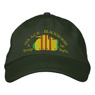 1/11th (Your Troop) Cavalry M113 ACAV Hat Embroidered Baseball Caps