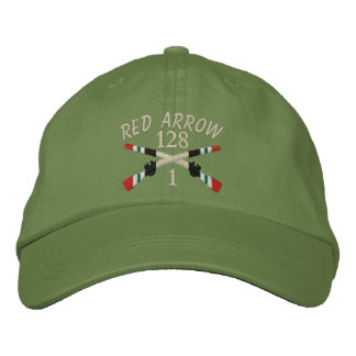 1-128th Infantry Iraq Crossed Rifles Embroidered Hats