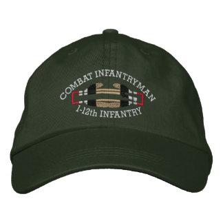 1-12th Inf. Iraq Combat Infantryman Badge Hat Baseball Cap