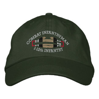 1-12th Inf. Iraq Combat Infantryman Badge Hat Embroidered Baseball Cap