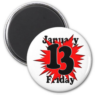 1-13 Friday the 13th Refrigerator Magnet