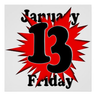 1-13 Friday the 13th Posters