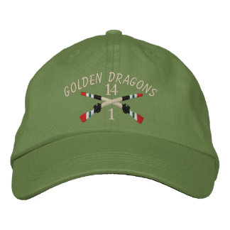 1-14th Infantry Iraq Crossed Rifles Embroidered Baseball Cap