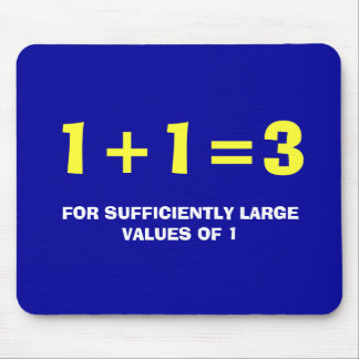 1+1=3 MOUSE PAD