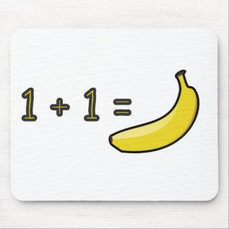 1 + 1 = Banana Mouse Mat