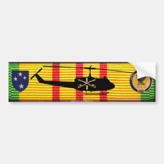 1/1st Cav. 23rd Inf. Div. UH-1 Huey on VSM Ribbon Bumper Sticker