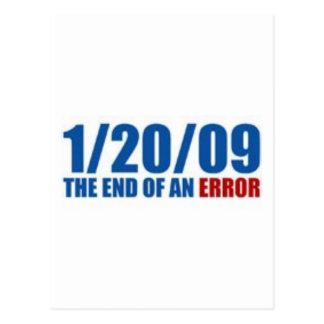 1/20/09  The End of An Error Postcard