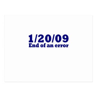 1/20/2009 End of An Error Postcard