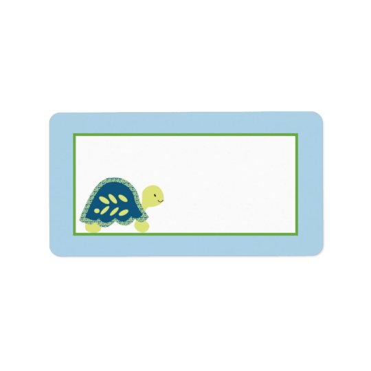 "1.25""x2.75"" Mailing Address Blue Sea Turtles Address Label"